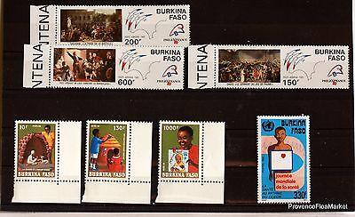 Briefmarken Frank Burkina Faso Packung Briefmarken Neu Ohne Scharniere Lo299 Diversifiziert In Der Verpackung