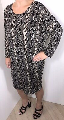 NEW Leopard Print Stretchy Dress Batwinged Silky /& Softest Cool Fits 16 18 20