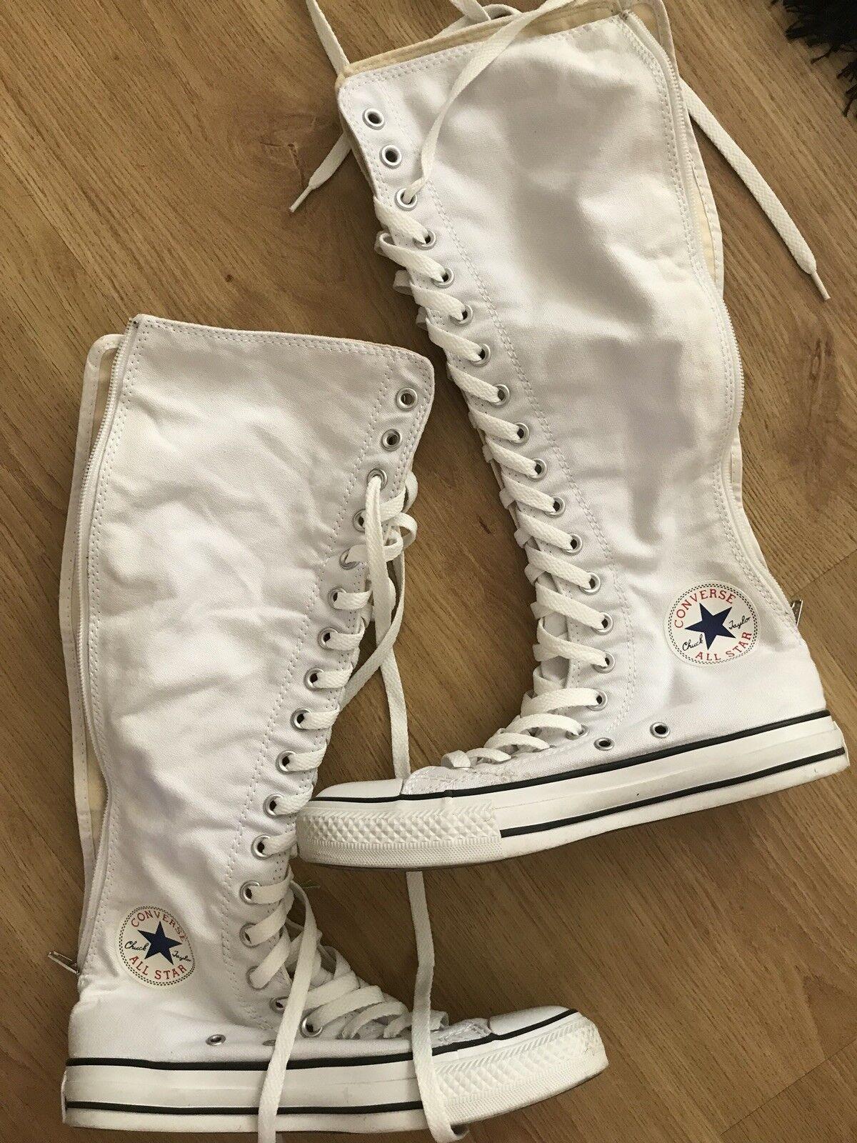 Bnwot women's Converse All Star Chuck Taylor Knee High Zip Back Boots Size 5