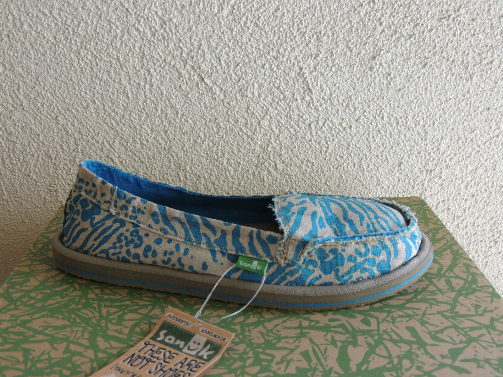 SANUK MARINE blueE SHORTY LEPPATYGA SIDEWALK SURFER SHOES,  US 8  EUR 39  NWT