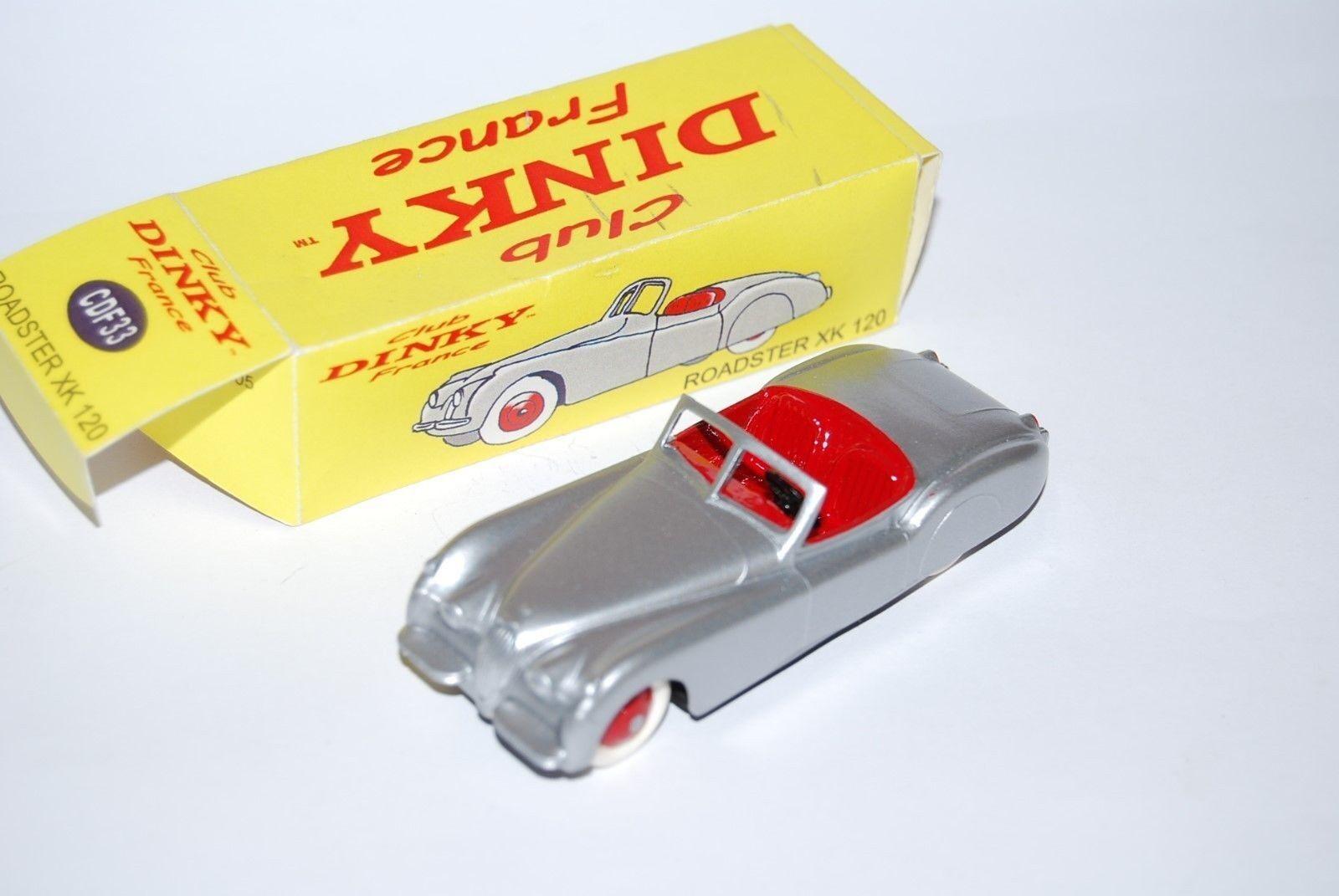 CLUB DINKY FRANCE JAGUAR ROADSTER XK 120 REF CDF33 NEUF BOITE NEW BOX SCALE 1 43