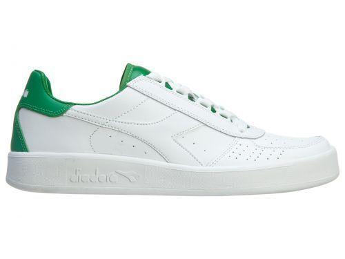 NEW Diadora Mens Diadora B.ELITE L. III LEATHER L S WH GR 15760801C1931 Sneakers