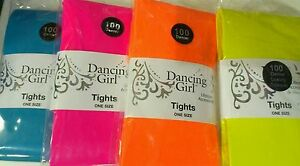 DANCING-GIRL-OPAQUE-LADIES-100-DENIER-NEON-TIGHTS-80S-FANCY-DRESS-PARTY-PINK
