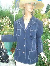 LUXUS Maritim Escada Couture STATEMENT JEANS Blazer blau 44/46 NP1180,-gold Golf