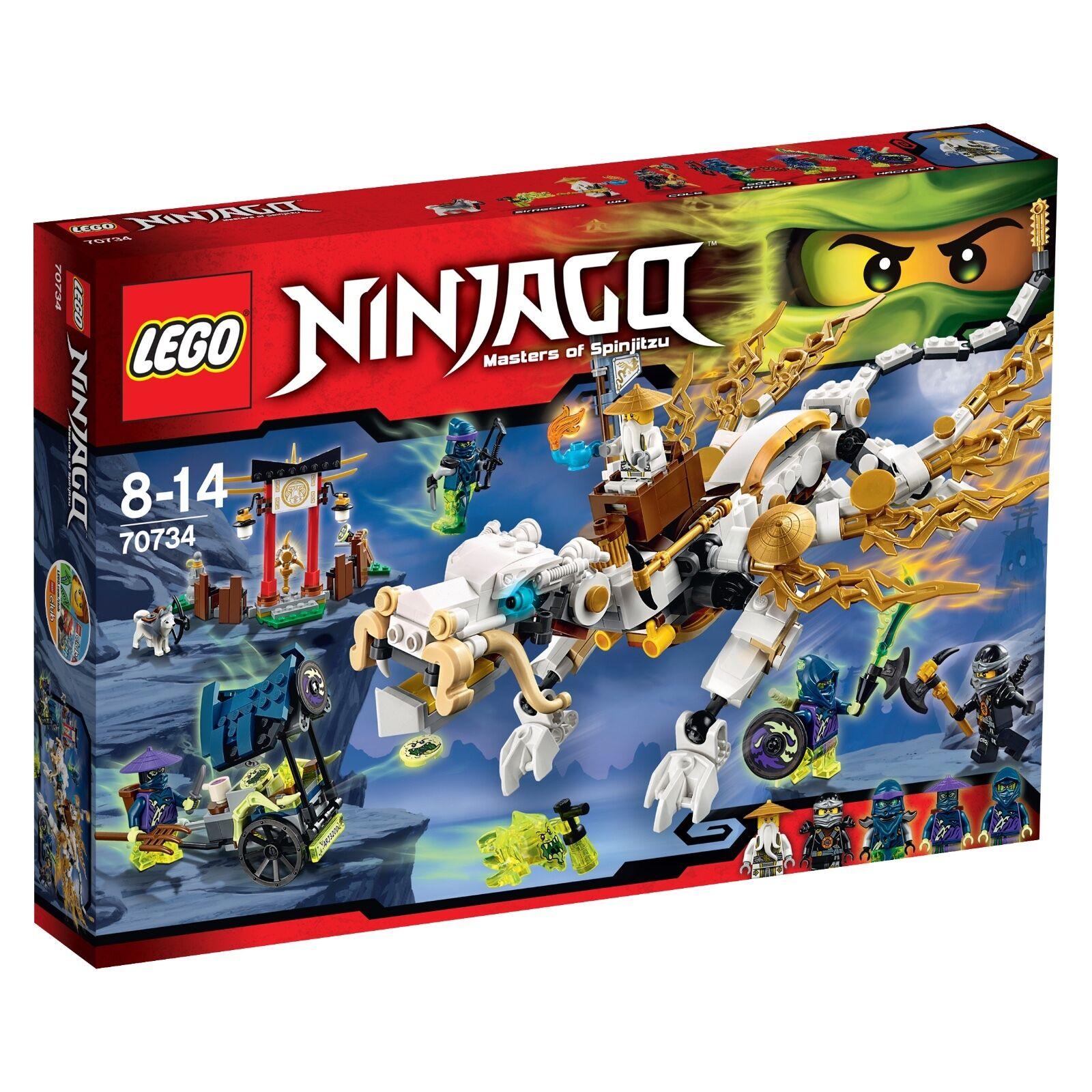 LEGO ® Ninjago ™ 70734 maestro Wu  's DRAGO NUOVO OVP Master Wu DRAGON nuovo MISB  risparmia fino al 70% di sconto