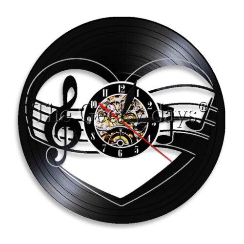 Music Note Wall Clock Rock N Roll Vinyl Record Wall Clock Decor Music Lover Gift