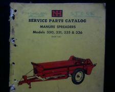 New Holland NH 330 331 335 & 336 Manure Spreader, spare parts book manual
