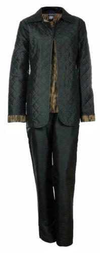 Sutton Studio Womens 3 Pcs Quilted Pant Suit Set Misses
