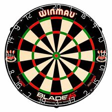 Winmau Blade 5 Dual Core Bristle Dartboard, BLACK WHITE RED