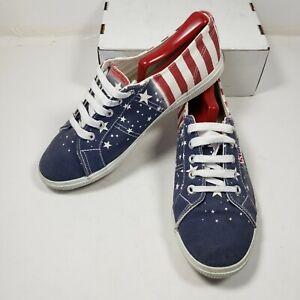 Superga Usa Flag Themed Lace Up Shoes