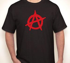 Anarchy Symbol Logo T-shirts S-5XL Quality  shirts