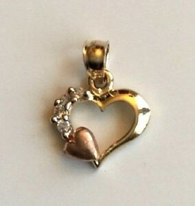 14k oro real dije de corazon 14k solid gold heart pendant ebay image is loading 14k oro real dije de corazon 14k solid aloadofball Images