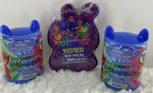 PJ Masks Collectible Figures Series 6 Night Ninja Sticky Splat Gift Lot of 3