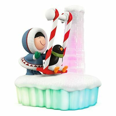 Hallmark 2016 Swing in the Holiday Frosty Friends Magic Cord Ornament