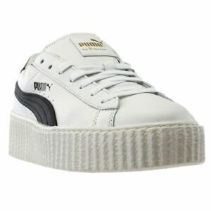 62fd632a894 Details about NIB MEN S PUMA BY RIHANNA 364640 01 CREEPER WHITE LEATHER  SNEAKERS SHOES  150