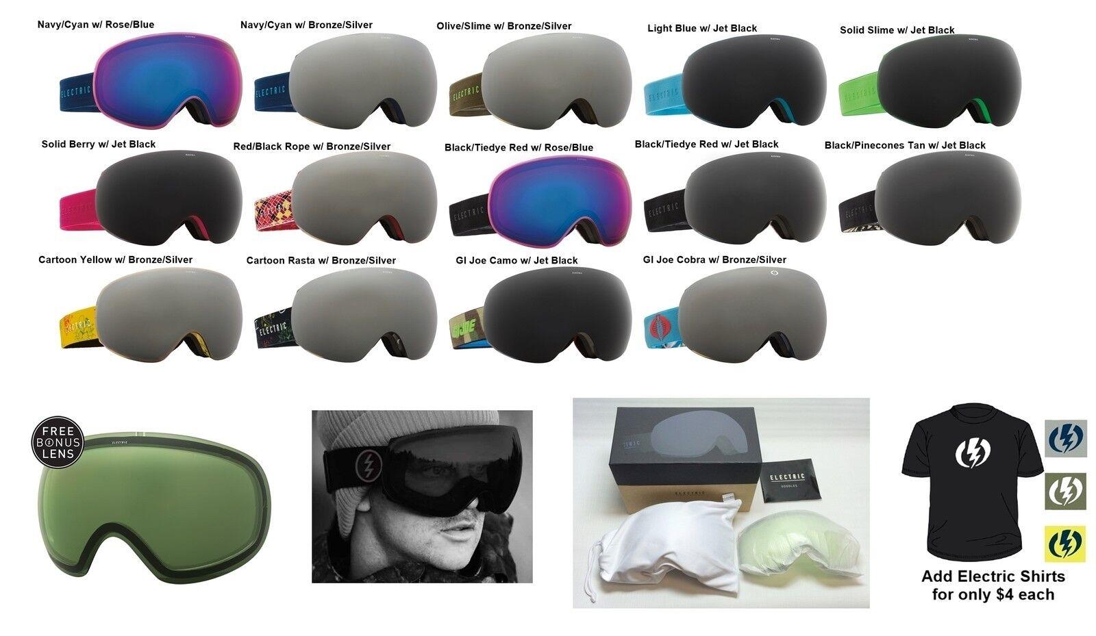 NEW Electric EG3 mens overGrößed ski snowboard goggles + lens 2016 Msrp220