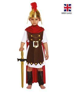 La Fourniture Enfants Général Romain Costume Déguisement Semaine Du Livre Jour Garçons Gladiateur Soldat Uk-afficher Le Titre D'origine