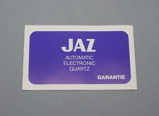 New old stock Very rare JAZ Blank guarantee warranty garantie Derby Swissonic