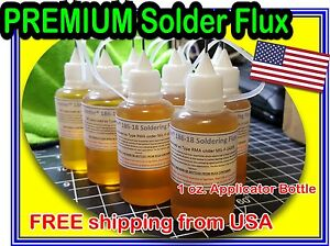30ml Kester (1oz.) 186-18 Liq. Soldering Rosin Flux Needle Tip Bottle No Clean  667952965018