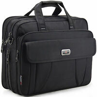 """16"""" Inch Black Laptop Notebook carrying briefcase bag case for HP Lenvoe Dell"""