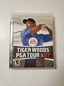 PS3-Tiger-Woods-PGA-Golf-Tour-07-Video-Game-Disc-Manual-Case-Pre-Owned-Tested