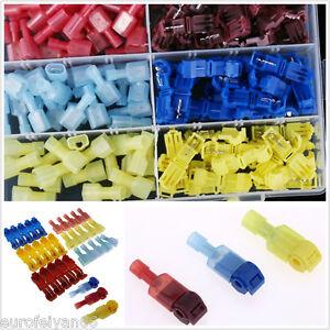 30Set-Car-Audio-Quick-Splice-Lock-Wire-Terminals-Connectors-Electrical-Crimp-Kit