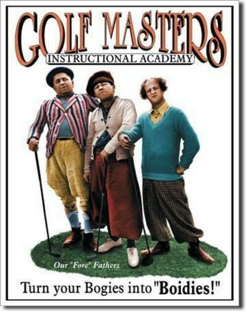 Poster Discount Three Stooges Tin Metal Sign Knuckleheads Garage 16x13 TSN1687
