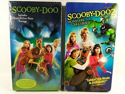 Lot Of 2 Vhs Movies Scooby Doo Scooby Doo 2 Monsters Unleashed 85392243631 Ebay