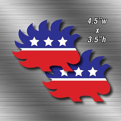 Libertarian Porcupine Shaped Logo Sticker Decal CDD-506108