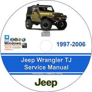 jeep wrangler tj 1997 2006 factory workshop service manual parts rh ebay com jeep wrangler factory service manual pdf jeep wrangler factory service manual download