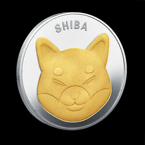 Shibcoin Coin Gold Plated Shiba Inu Shib Coins 2021 Limited Edition Collectible