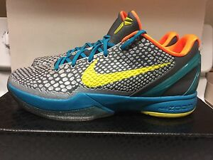 buy online 6dfb6 9f83a Image is loading Nike-Zoom-Kobe-VI-6-Glass-Blue-helicopter-