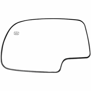 Fits 00-06 Chevy Tahoe GMC Yukon Left Driver Heated Mirror Glass w//Backing Plate