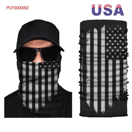 US FACE MASK Sun Shield Neck Gaiter Headband Bandana Du Rag Skull Cap SPF40 #02