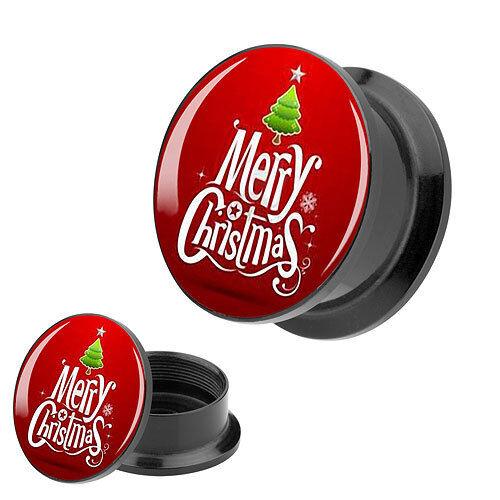 Picture Orecchio Plug Motivo Merry Christmas