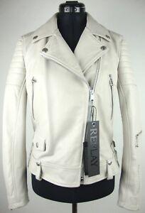 Leather Gr Etikett Lederjacke Bikerstyle Damen Mit Neu Replay Jacke s Jacket FT1nEg