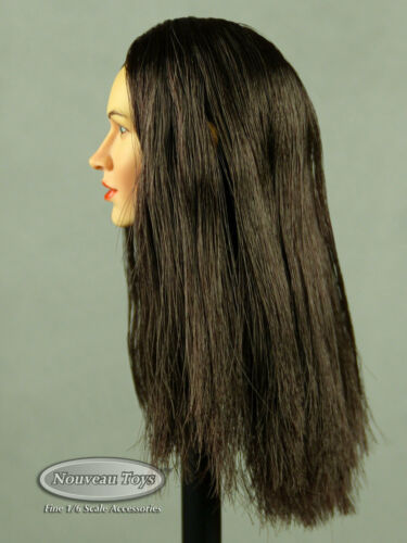 NT Female Head Sculpt Samantha w// Dark Hair 1//6 Scale Phicen Kumik TBLeauge