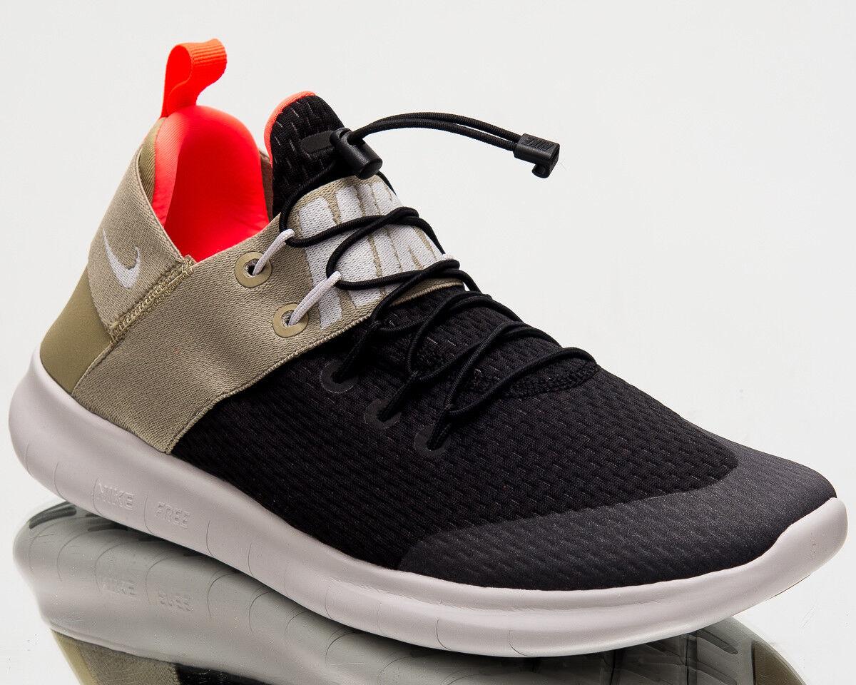 Nike Hommes Free RN Commuter 2018 Hommes Nike Running Chaussures Hommes Noir  Gris Olive 880841-008 8777d0