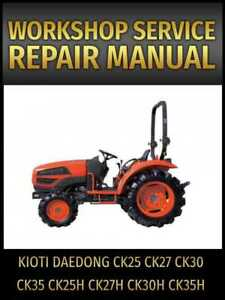 kioti tractor repair manual