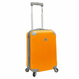 Beverly-Hills-Country-Club-Malibu-21-034-Orange-Carry-On-Suitcase-Spinner-Luggage