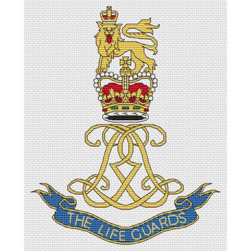 kit or chart Life Guards Badge Cross Stitch Design