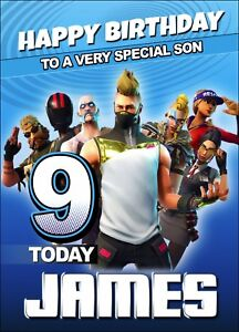 FORTNITE-Personalised-Birthday-Card-Fortnight-Game-Online-Battle-XBox-Boy-MMO