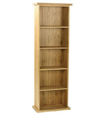 Carne Oak Double DVD Storage Tower / Solid Oak Rack / Handcrafted Oak Unit