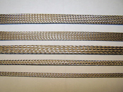 BRAIDED STAINLESS  EXPANDABLE FLEX SLEEVE WIRING HARNESS LOOM FLEXABLE COVER