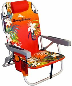 New Tommy Bahama Backpack Foldable Beach Chair With