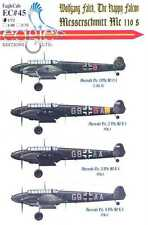 EagleCals Decals 1/72 MESSERSCHMITT Bf-110 Wolfgang Falck The Happy Falcon