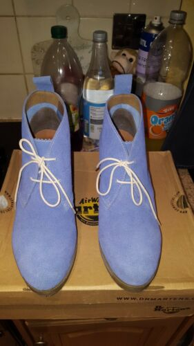 Martens Mandy 7 Blue Dr Suede Botas Vgc talla para Heel mujer Wedge xIqpcItw4B