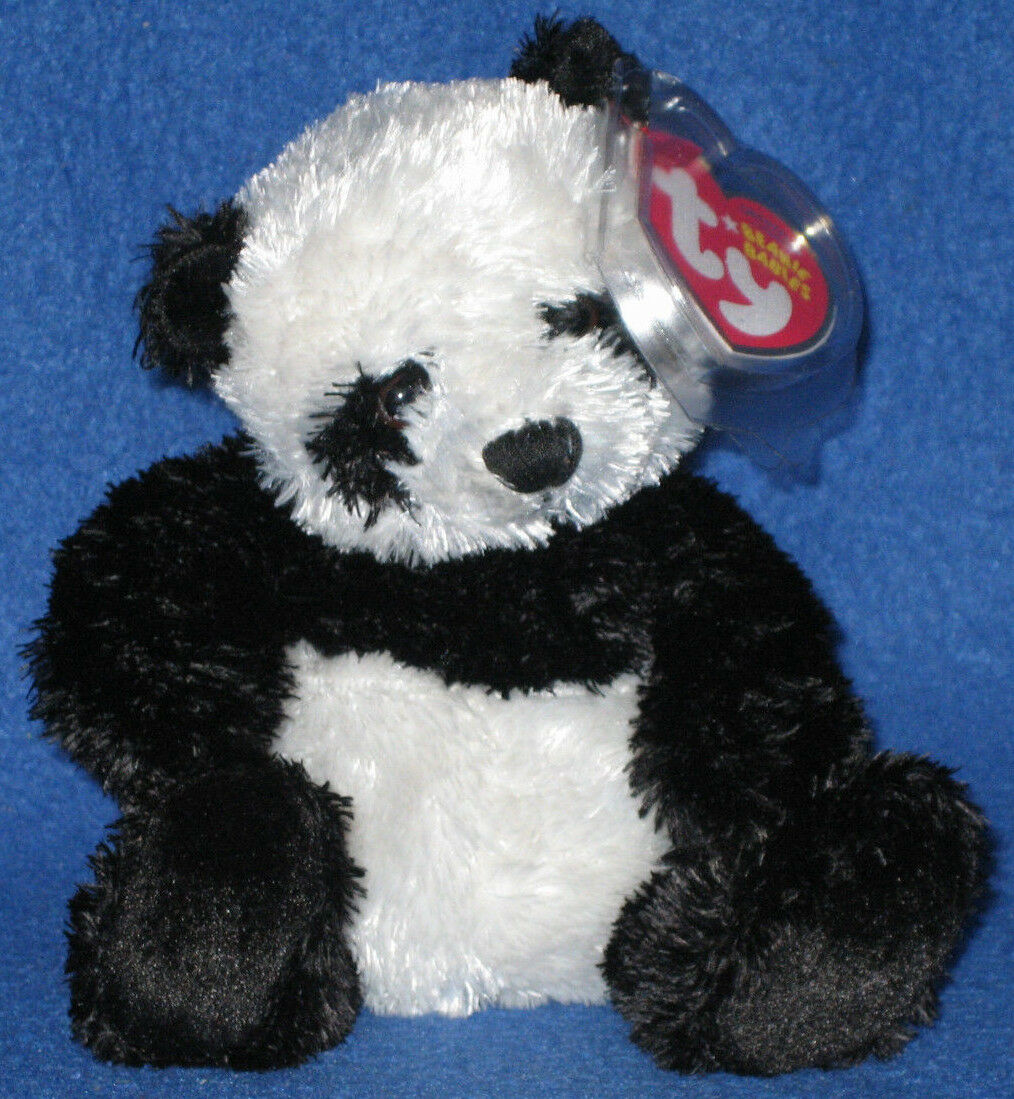 TY WONTON the PANDA BEANIE BABY - MINT with MINT TAGS