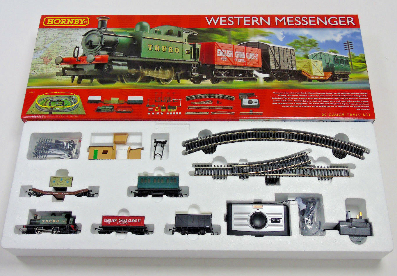 R1142 Hornby 00 Gauge Western Messenger Model Electric Train Estrellater Set Boxed