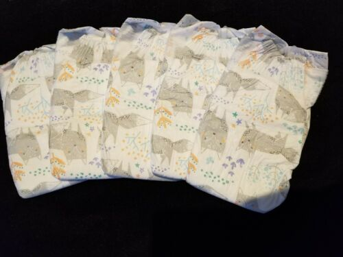 REBORN RARE Honest Diapers•°°•ARCTIC FOX•°°•print size 1,set of 5